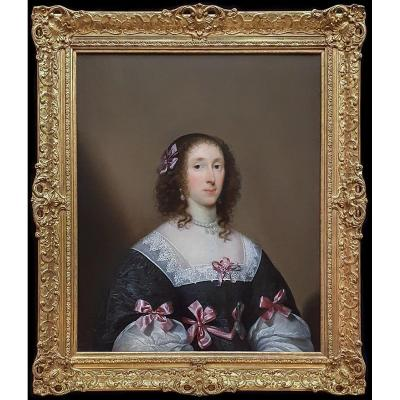 Portrait Of Elizabeth Penyston C.1635; Cornelius Johnson (1593-1664), Signed And Dated