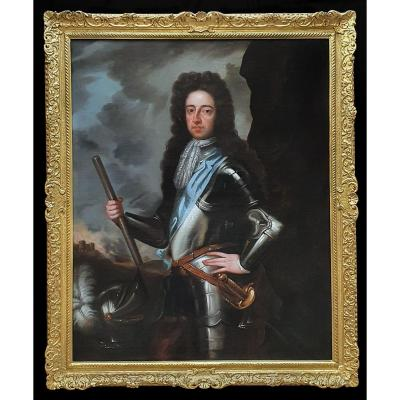 Portrait Du Roi Guillaume III Vers 1700 ; Atelier De Sir Godfrey Kneller (1646-1723)