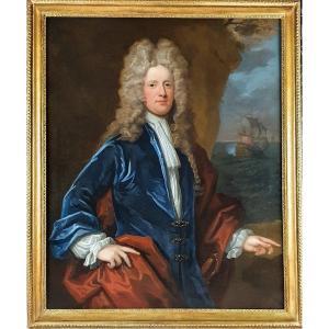 Vers 171 Portrait Du Capitaine James Monypenny (1670-1721)