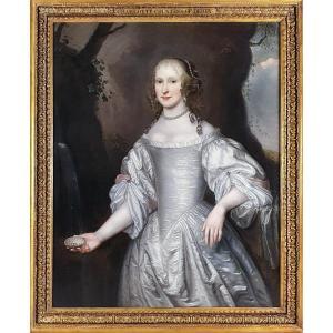 Vers 1648 Portrait de Charlotte de La Trémoille, future comtesse de Derby (1599-1664), Peinture