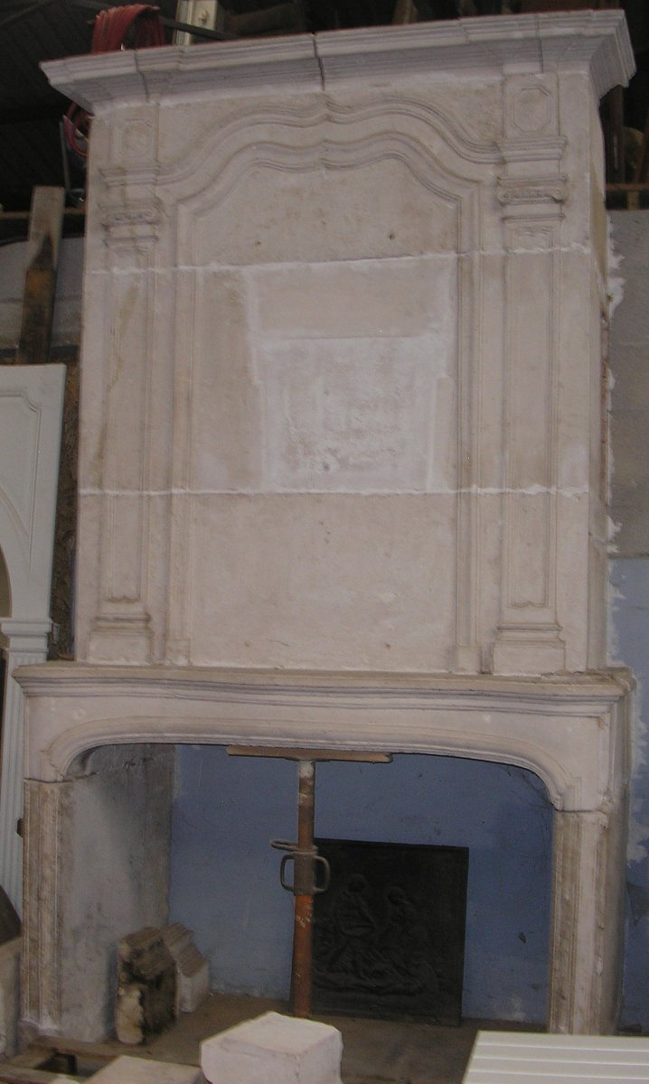 Large Fireplace With Trumeau XVIII