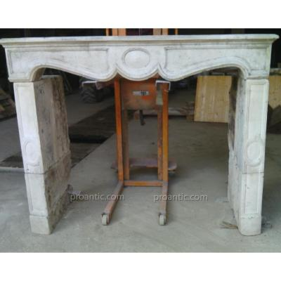 Old Curved Fireplace Straight Legs