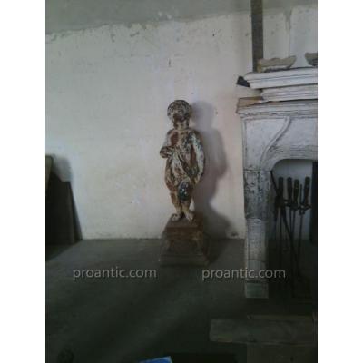 Old Cherub Statue Art Fountain De Durenne