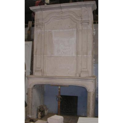 Large Fireplace With Trumeau XVIII