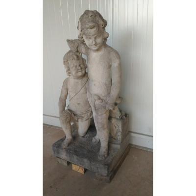 Statue Chérubins XVIIIème