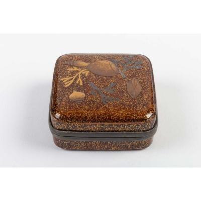 Rare Boîte  Laquée A Encens (kogo) Début Edo 17/18 Siècle