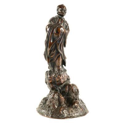 Bronze Japonais d'Un Arhat (rakan)