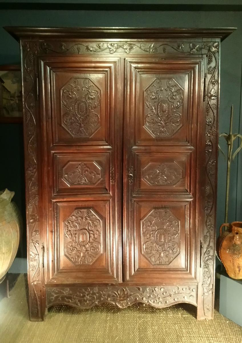 Small Carved Cabinet Oak