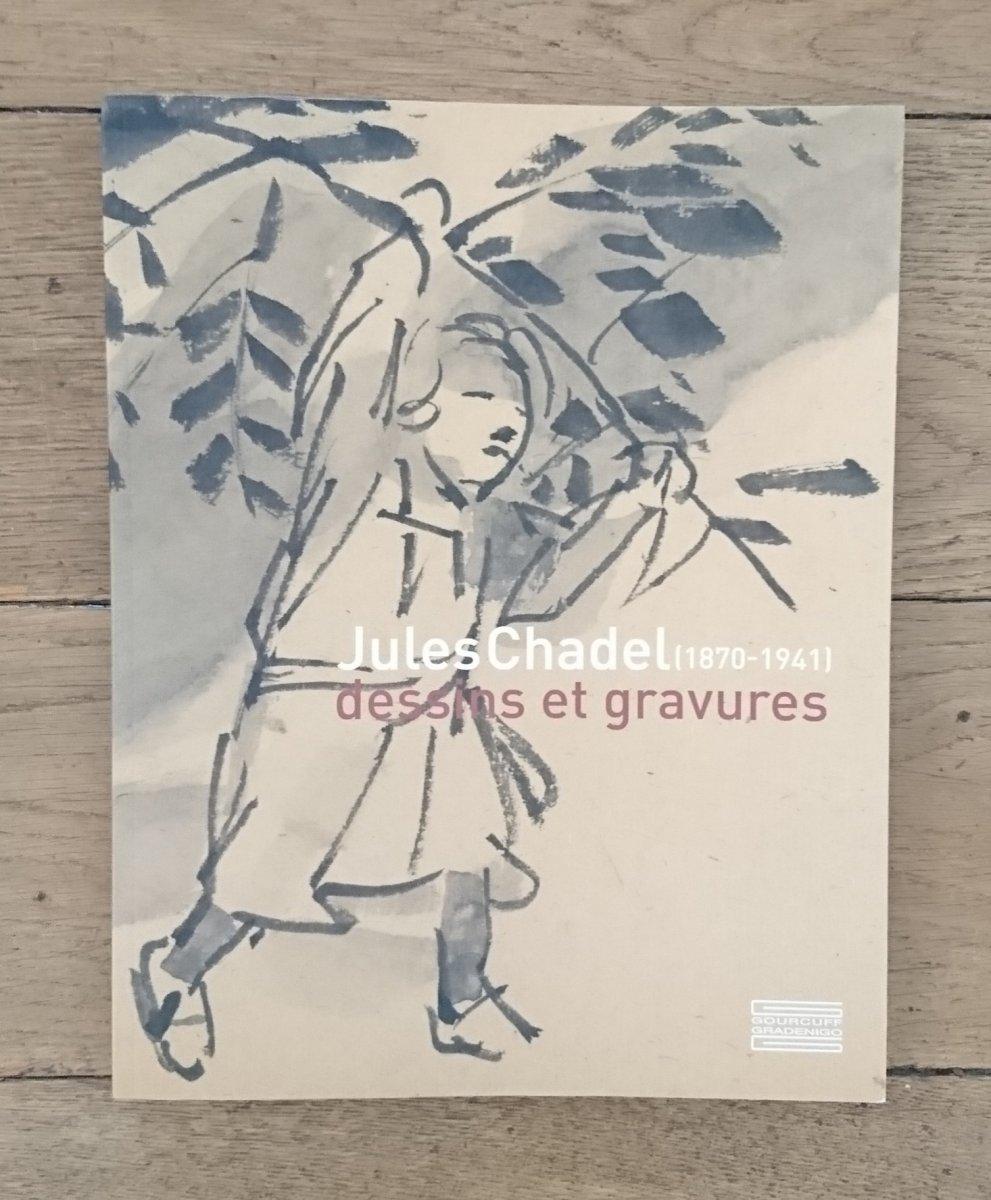 Lavis Sur Papier Japon Paysage d'Auvergne Par J Chadel-photo-1
