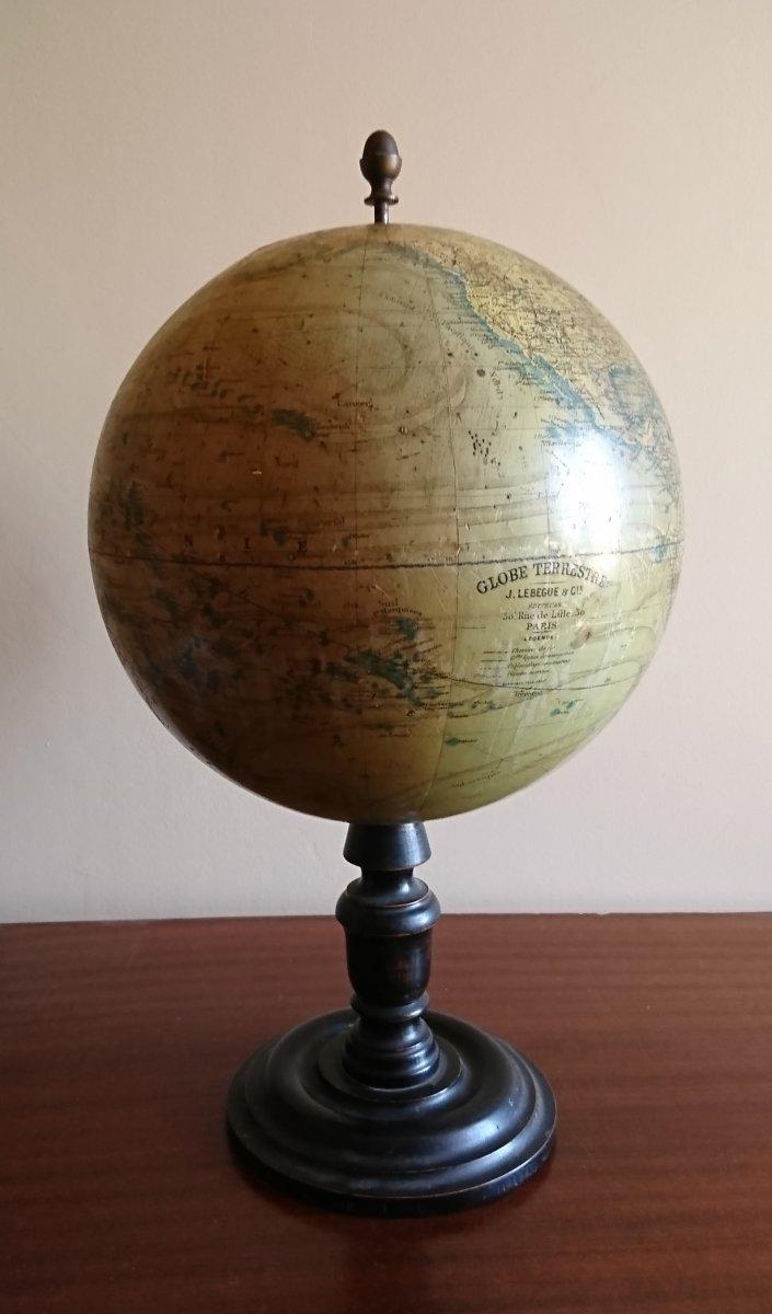 Globe Terrestre J Lebegue