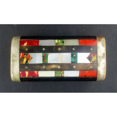 Snuffbox Of Popular Art Bone And Stone