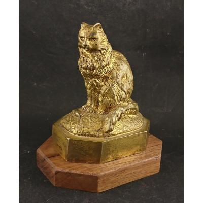 Gilt Bronze Cat