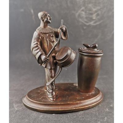 Pyrogen Pierrot Tambourinant Bronze