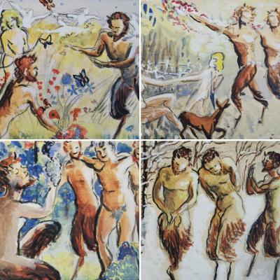 Les 4 Saisons Aux Faunes, Aquarelles 1928
