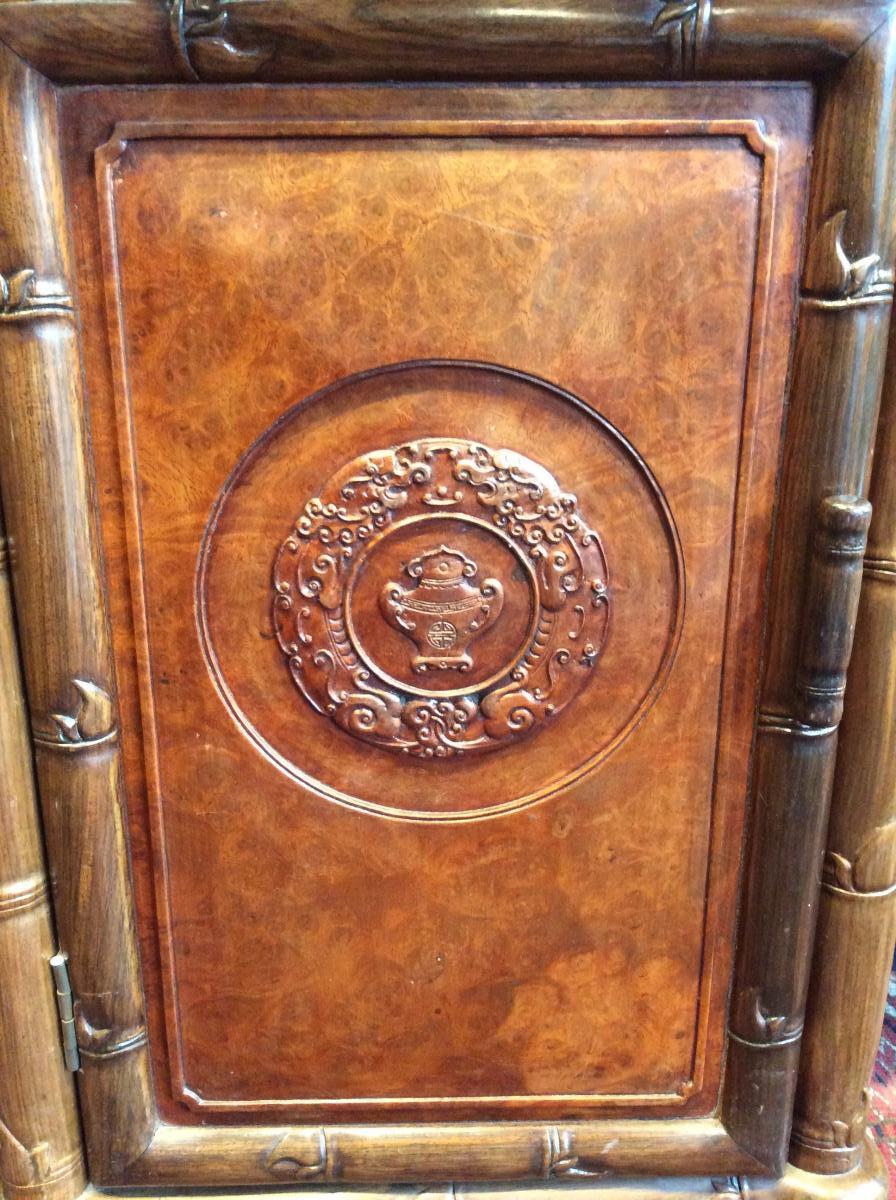 Bureau Cochinchine Style Bambou-photo-4