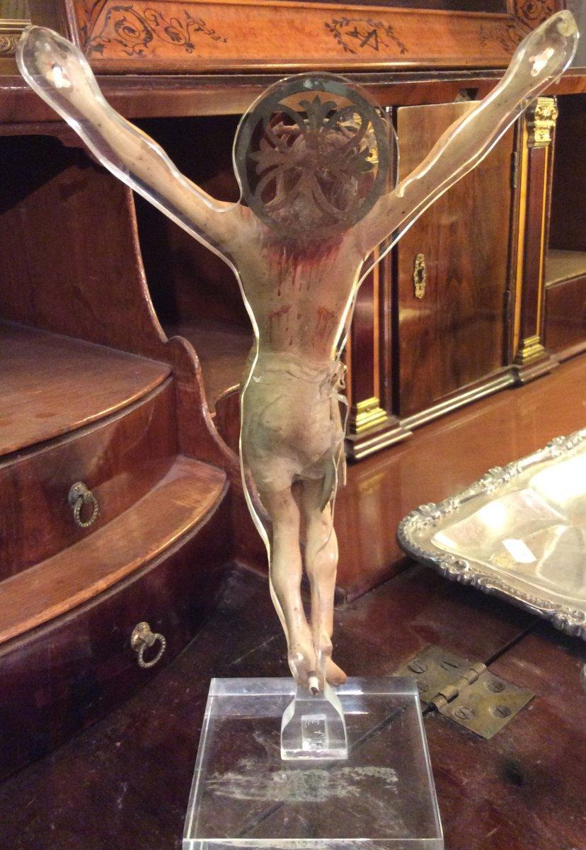Christ En Bois Sculpté -photo-1