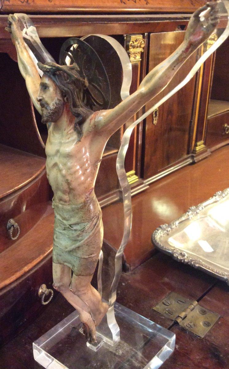 Christ En Bois Sculpté -photo-2