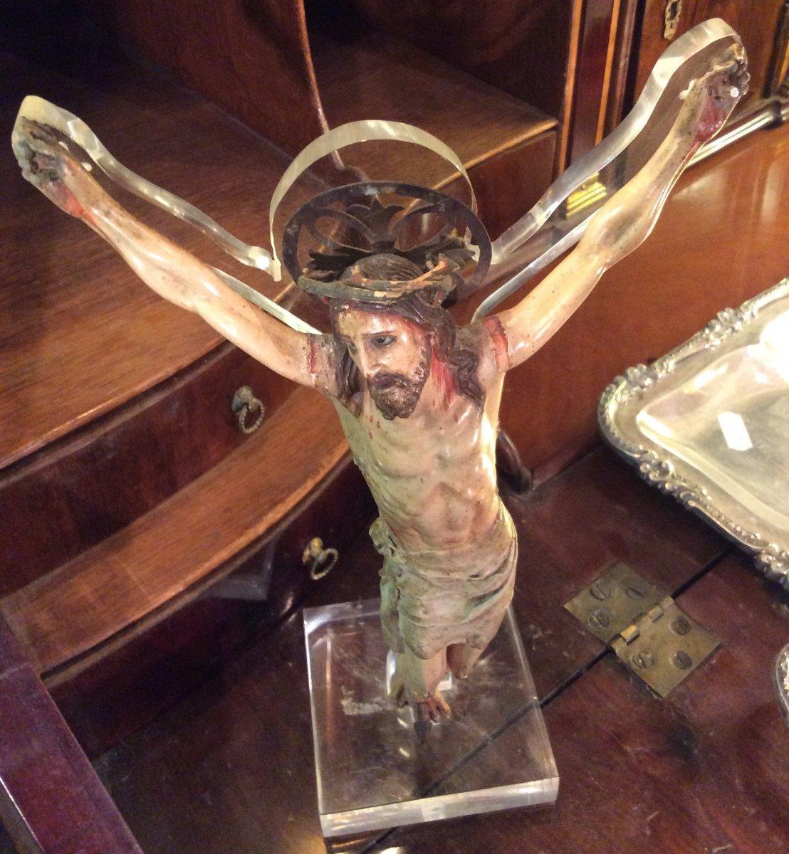 Christ En Bois Sculpté -photo-3