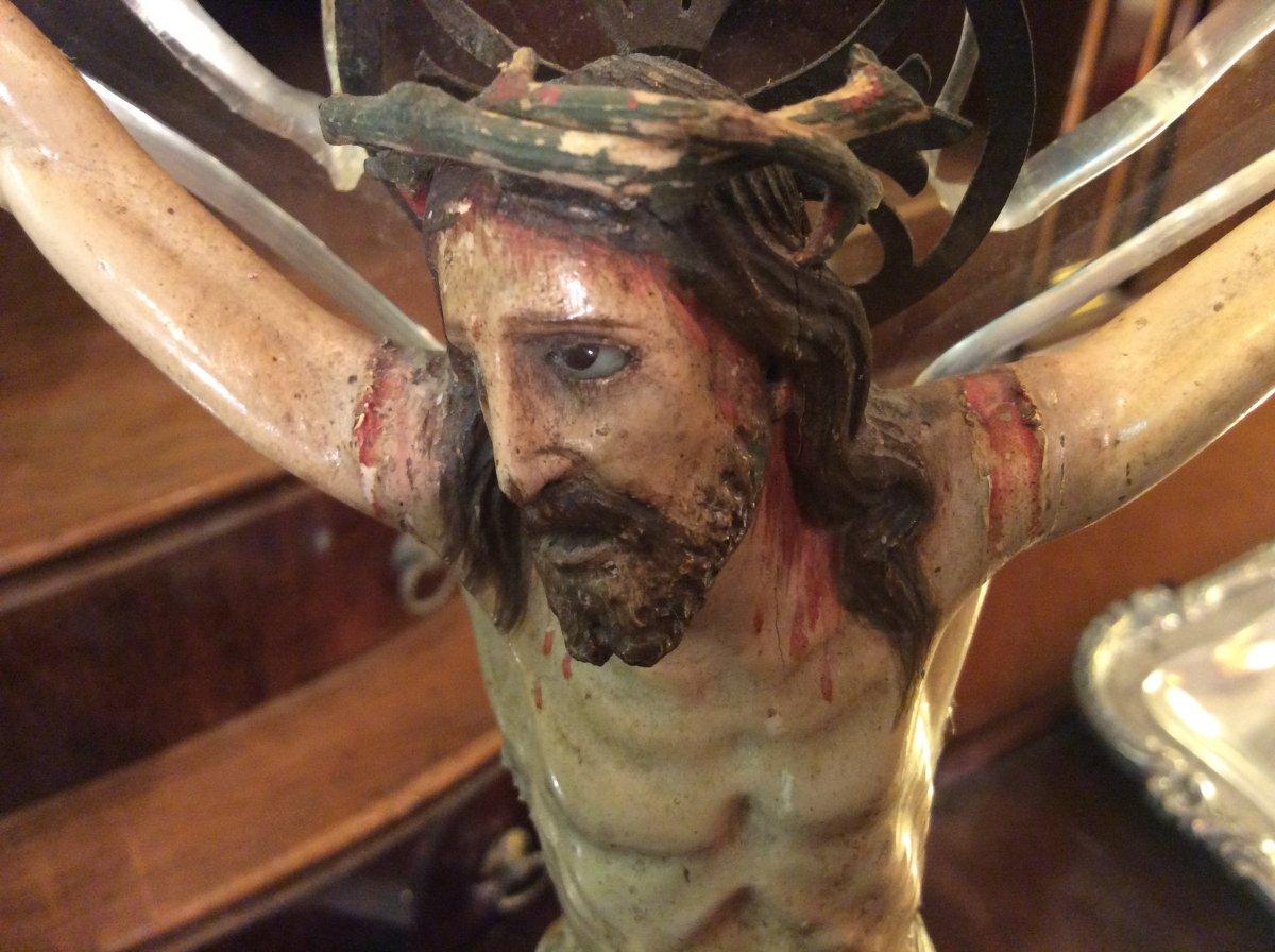 Christ En Bois Sculpté -photo-5