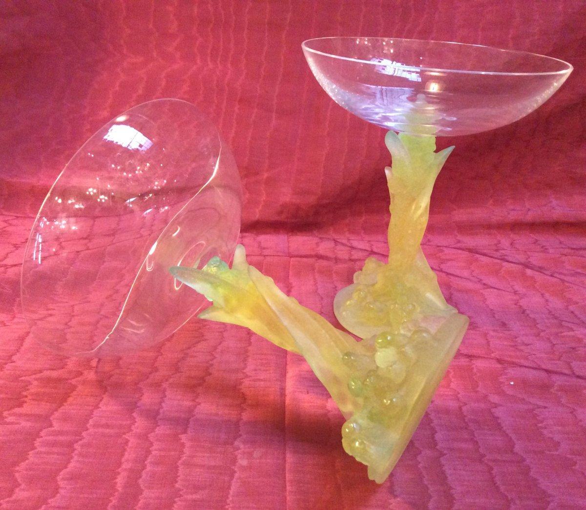 Paire De Vases- Coupes Daum-photo-2