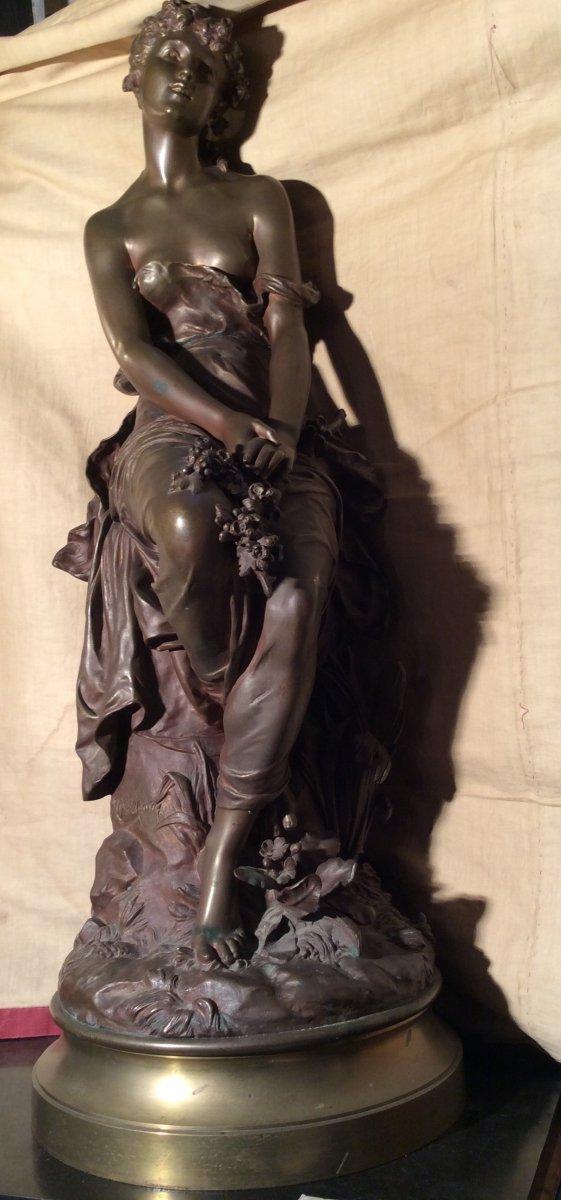 Hippolyte Moreau - «Jeune  Fille  Aux  Fleurs»