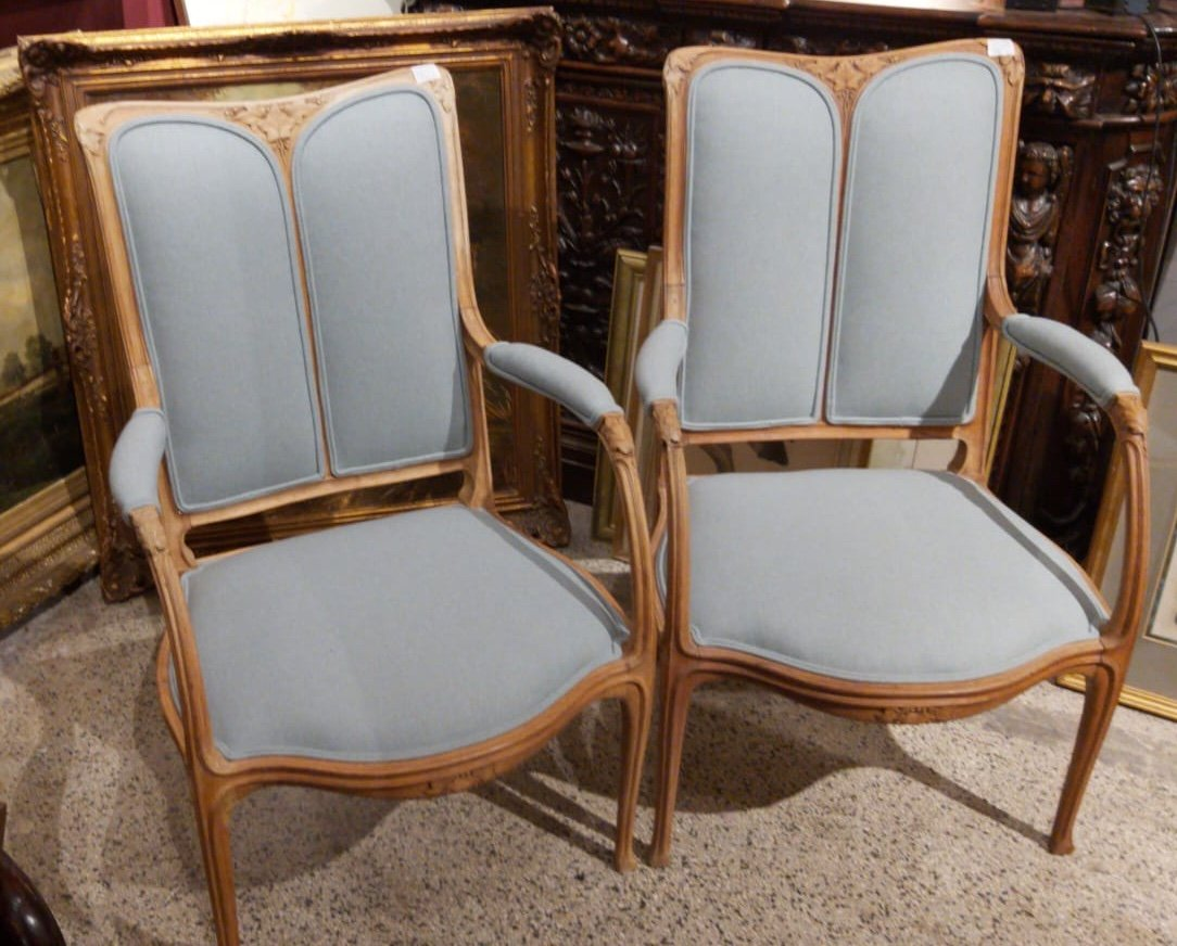 Pair Of Majorelle Armchairs
