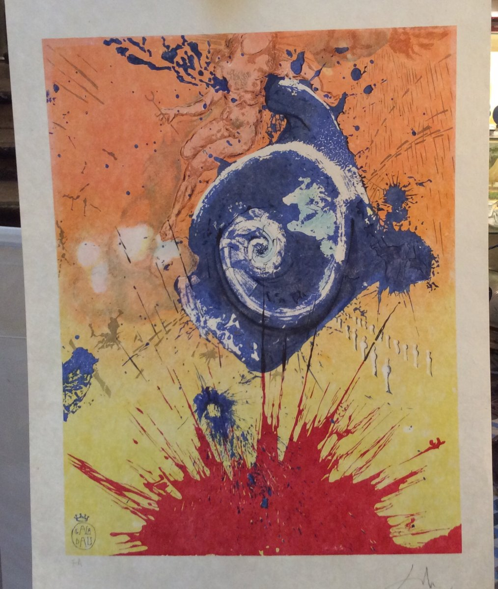 «L' Aurore»- Lithographie De Salvador Dali