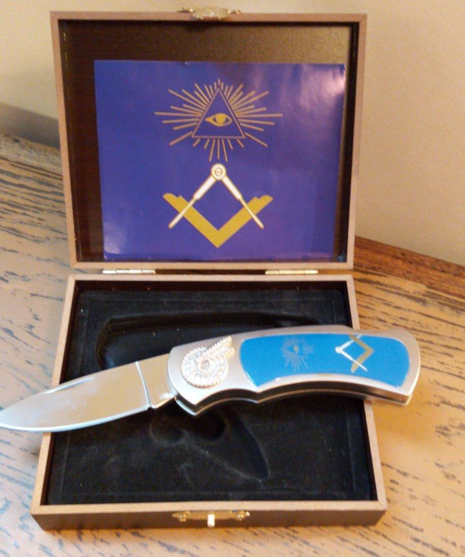 Couteau à l'emblème maçonnique-photo-2