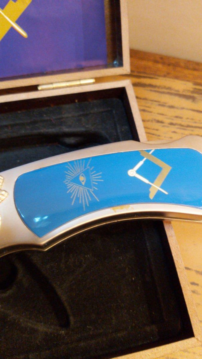 Couteau à l'emblème maçonnique-photo-3