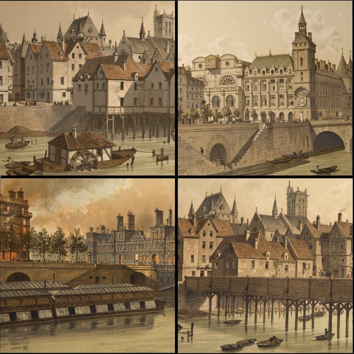 «Paris à Travers Les âges»  En Deux Volumes - Fedor Hoffbauer - 1978-photo-2