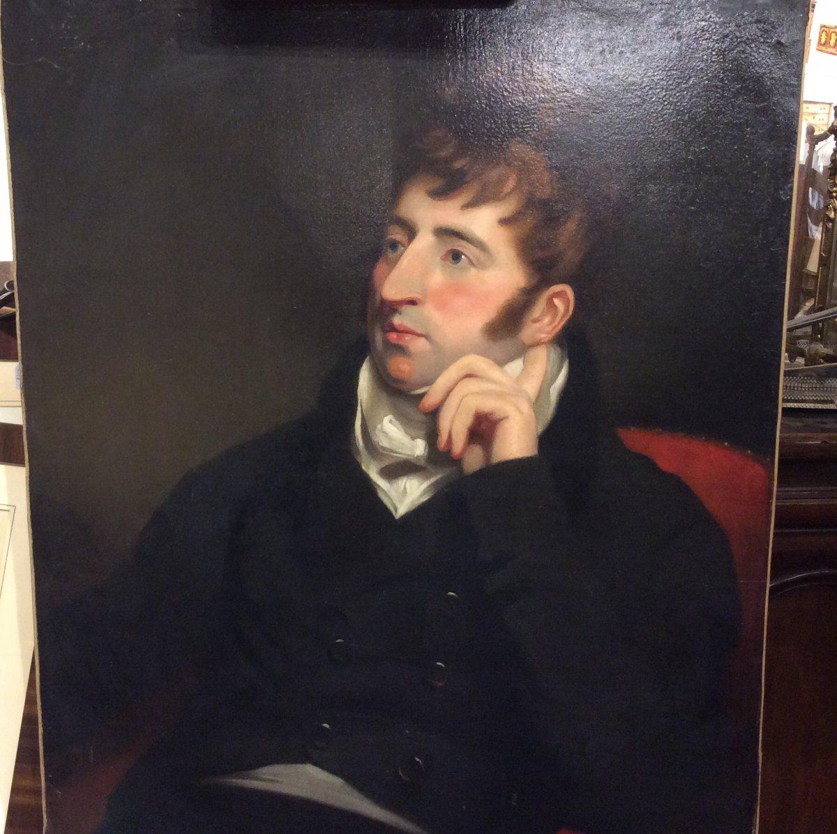 Portrait D'aristocrate- École Anglaise- Début XIXe Siècle -photo-2