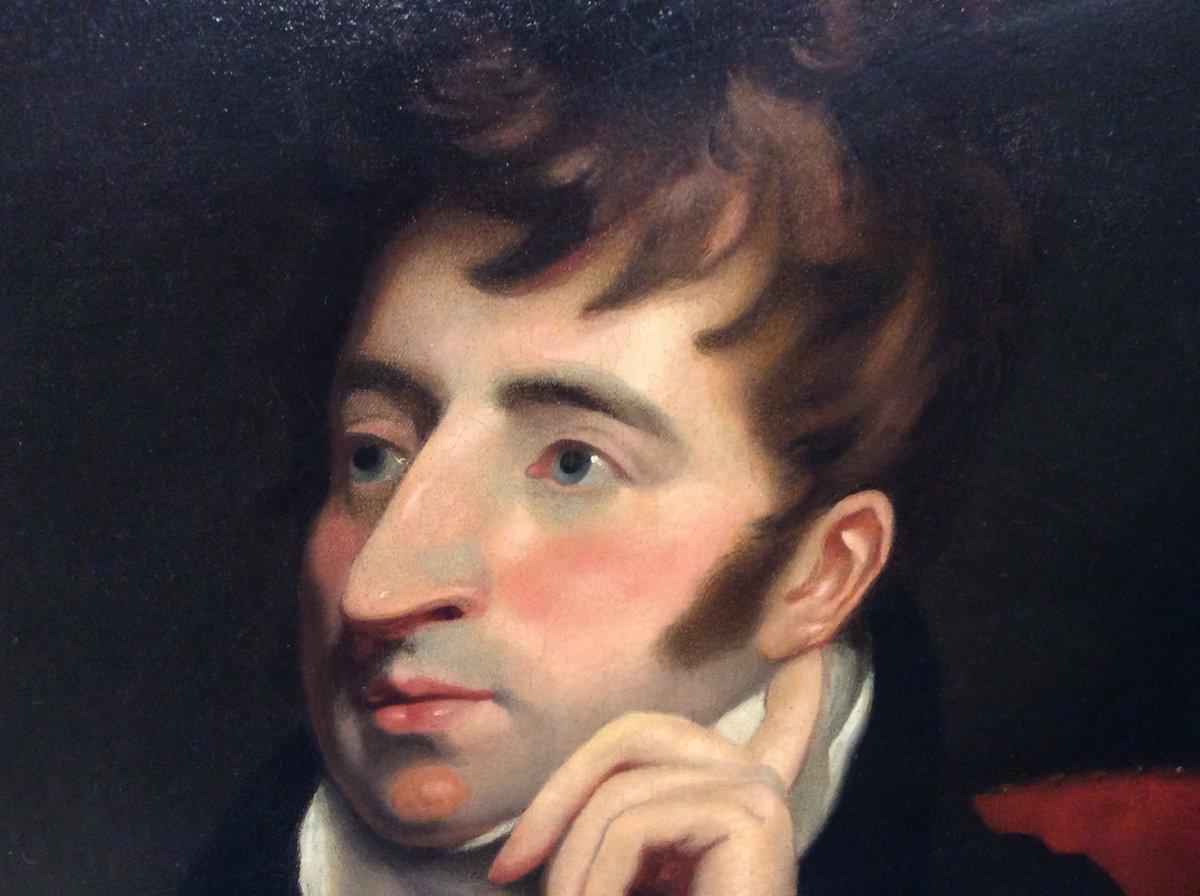 Portrait D'aristocrate- École Anglaise- Début XIXe Siècle -photo-3