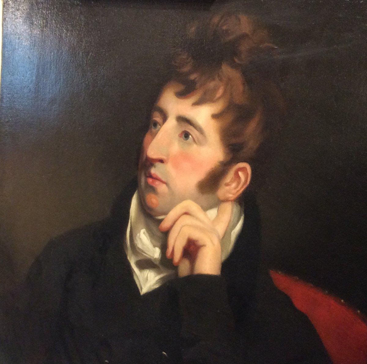 Portrait D'aristocrate- École Anglaise- Début XIXe Siècle -photo-4