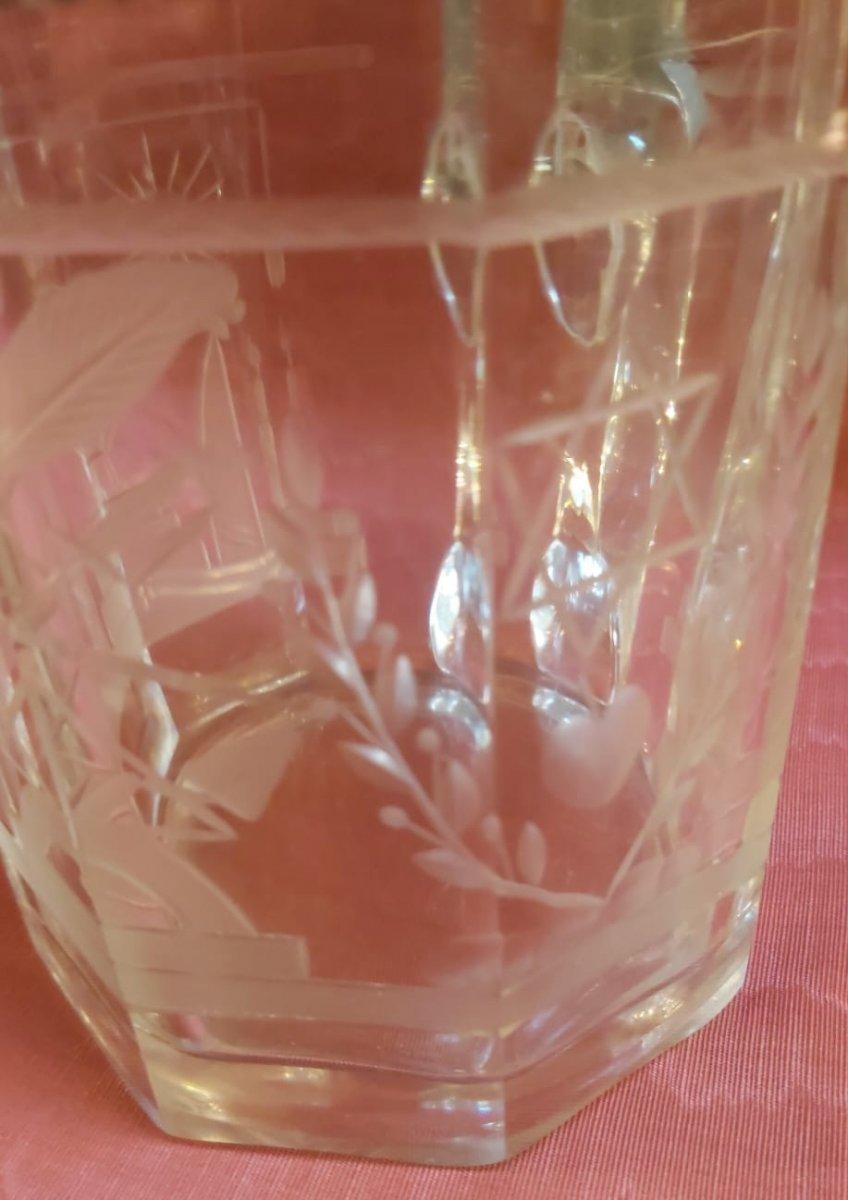 Chope Maçonnique En Cristal Gravé -photo-1