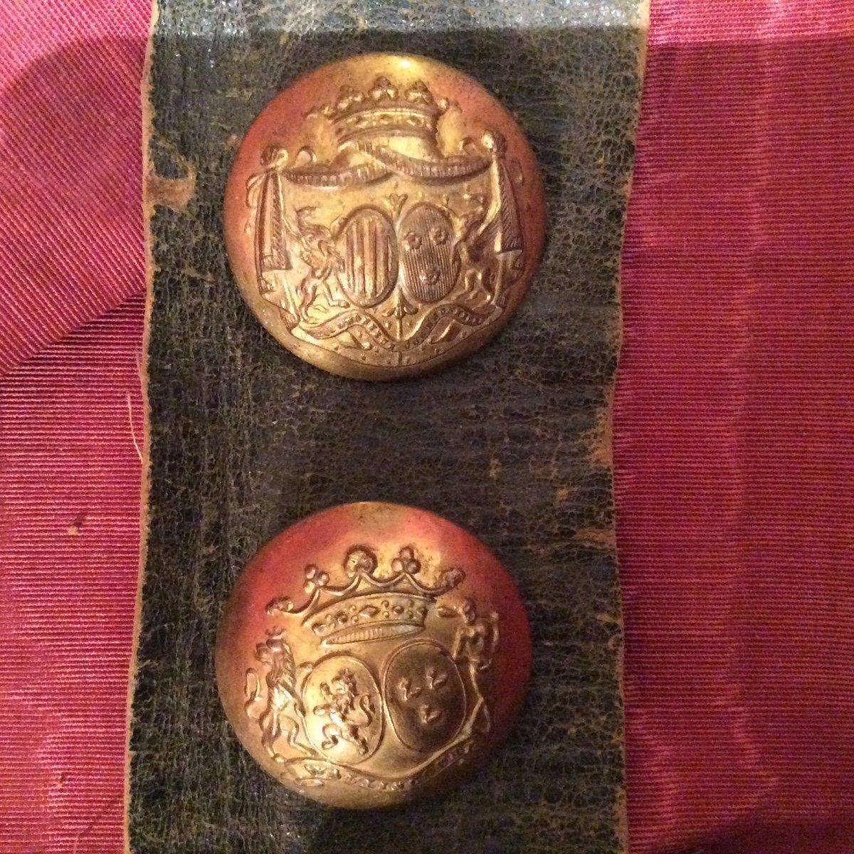 """Rare Collection De Boutons """"aux Armoiries""""-photo-1"""