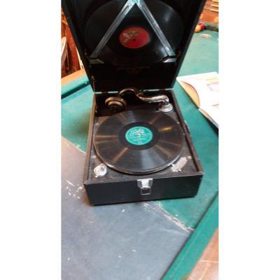 Ancien Gramophone Columbia Des Années 1930