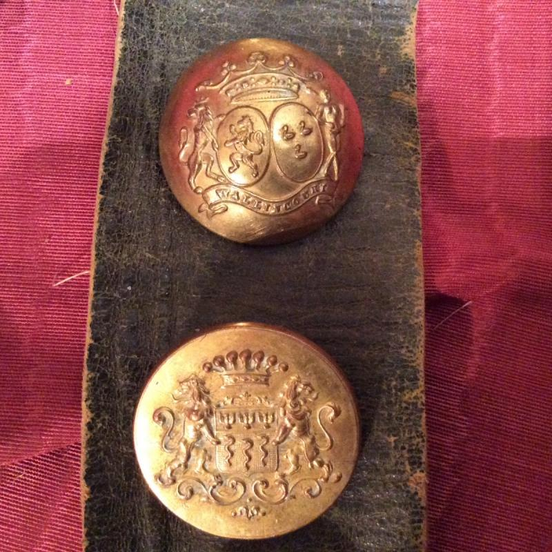 """Rare Collection De Boutons """"aux Armoiries""""-photo-4"""