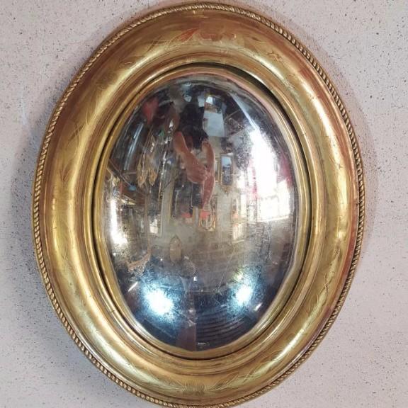 Miroir Sorcière Dore 19ème