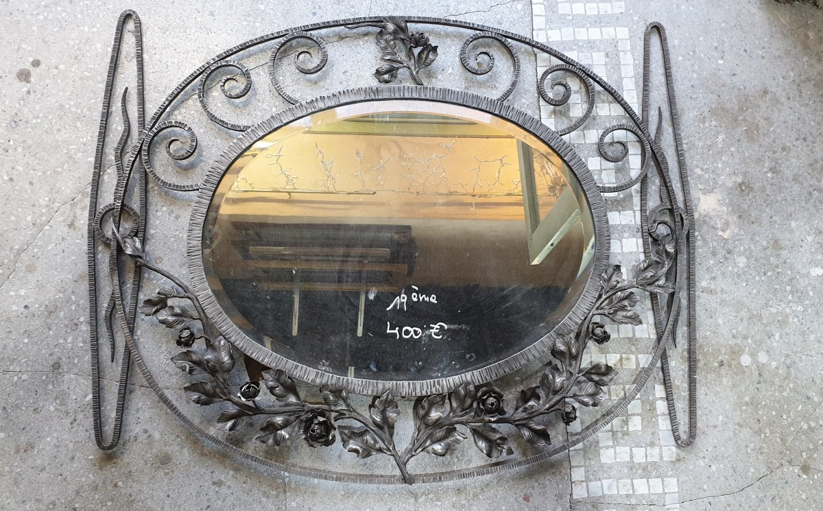 Miroir En Fer Forgé Art Déco