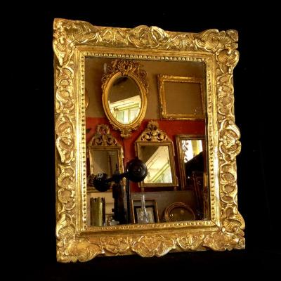 Miroir ancien sur proantic 17 me si cle for Miroir qui tombe tout seul