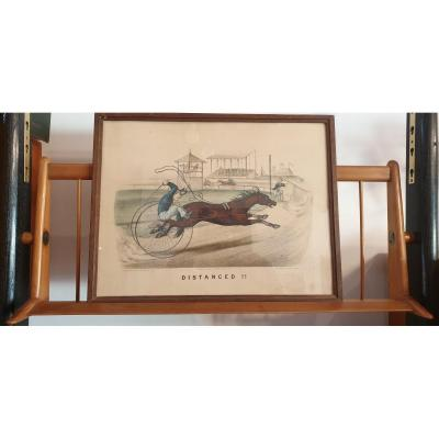 3 Lithographies équestres Thomas Worth Vers 1880