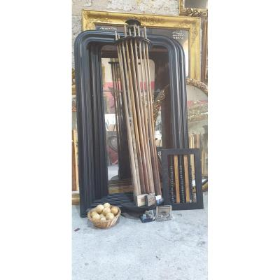 19th Billiard Room Set, 4 Mirror Frames