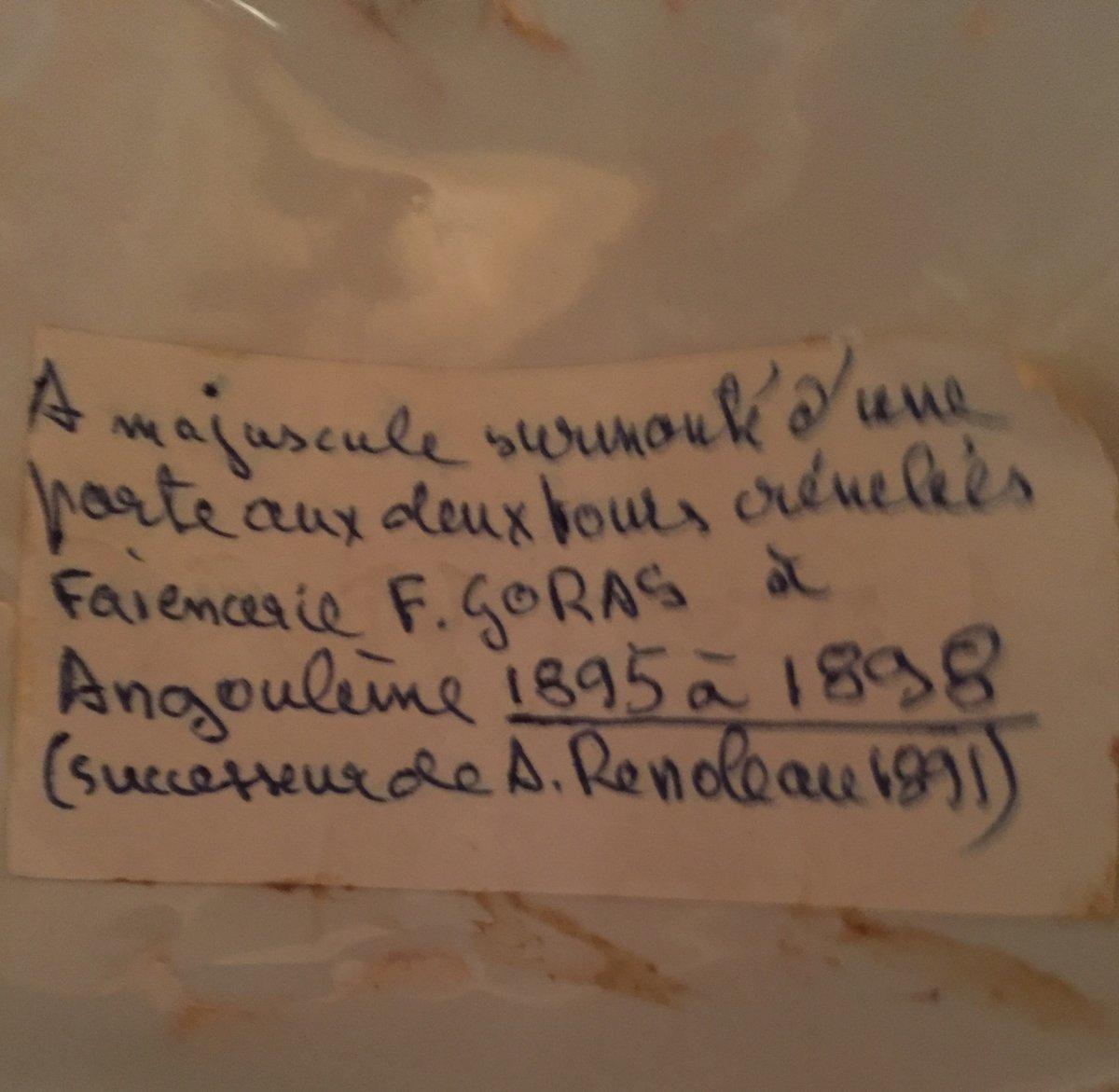 Aiguière et plat faïence Angoulême-photo-5