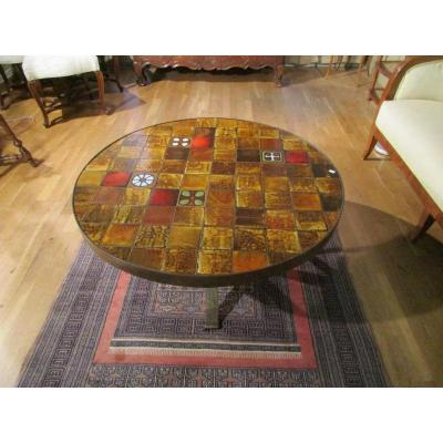 Table salon vintage Vallauris