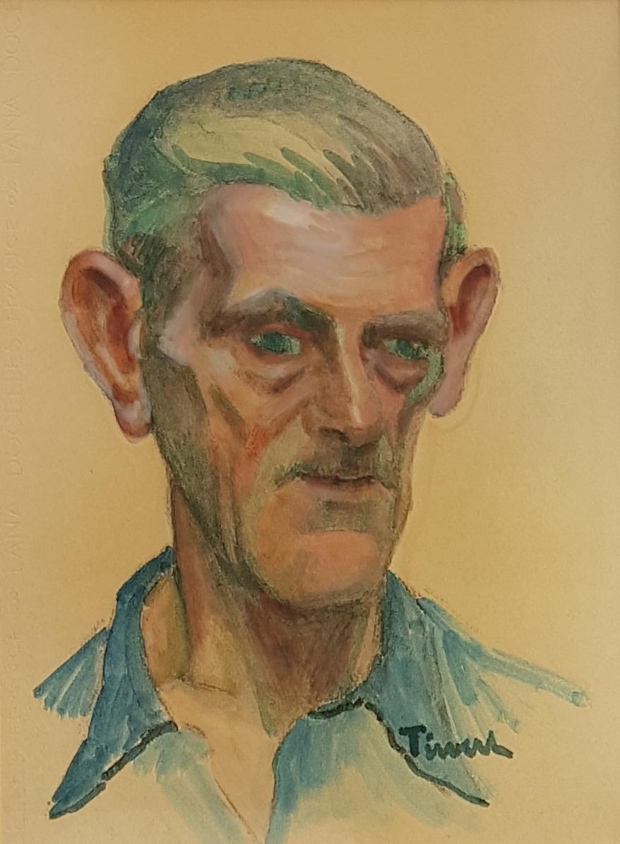 Eugène Tirvert (1881-1948), Self-portrait, School Of Rouen