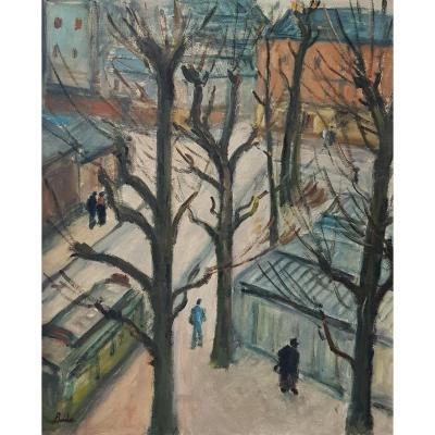 Léonard Bordes (1898-1969), La place du 39e R.I. à Rouen