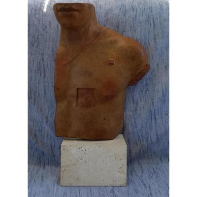 Igor Mitoraj (1944-2014), Asclépios, sculpture en bronze