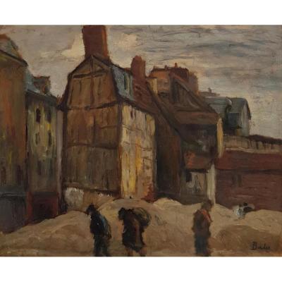 Léonard BORDES (1898-1969), Faubourg Martainville à Rouen