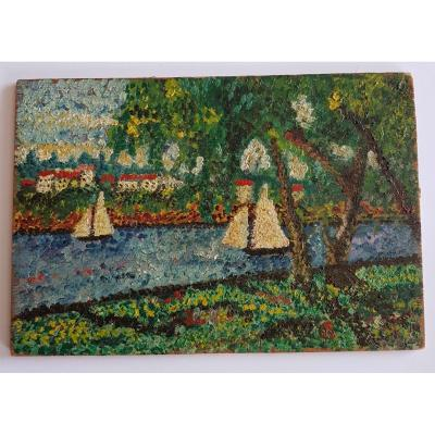 Pointillist School, The Seine In Courbevoie, The Island Of La Grande Jatte
