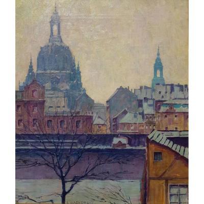 Siegfried MACKOWSKY (1878-1941), Notre-Dame de Dresde